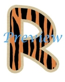 Jungle Tiger Stripes Alphabet Clip Art Set
