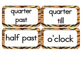 Tiger Stripes Clock Numbers