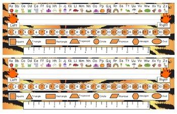 Tiger Stripes Desk Reference Nameplates Version 2