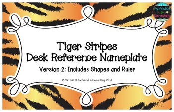Tiger Stripes Desk Reference Nameplates Version 2