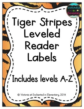 Tiger Stripes Leveled Reader Labels