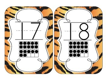 Tiger Stripes Number Cards 1-20