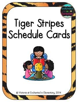 Tiger Stripes Schedule Cards