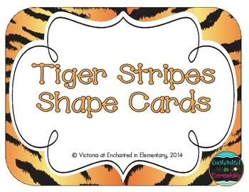 Tiger Stripes Shape Cards