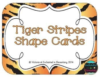 Tiger Stripes Shape Cards
