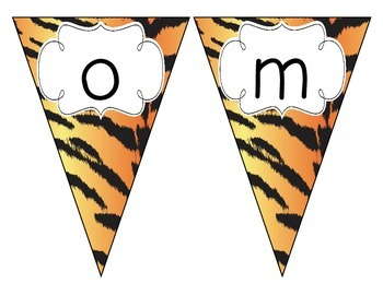 Tiger Stripes Welcome Pennant
