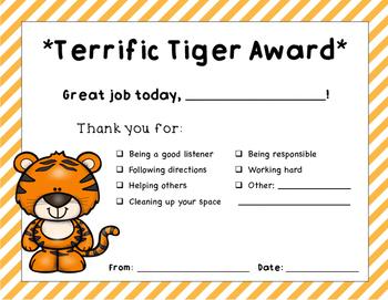 Tiger Student Award