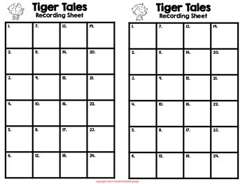 Tiger Tales- Homophone Task Card Kit