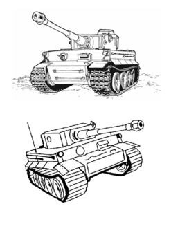 Tiger Tank World War Two Word Search