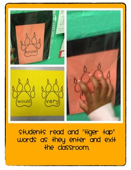 Tiger Tap Sight Word Packet