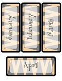 Tiger Theme Calendar Pieces