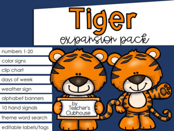 Tiger Theme Decor {Expansion Pack}