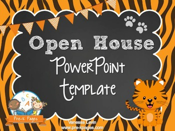 Tiger Theme Open House ~ Back-to-School ~ PowerPoint Templ