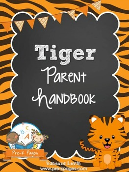 Tiger Theme Parent Handbook Back-to-School {personalize it}