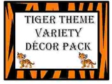 Tiger Theme Variety Decor Pack