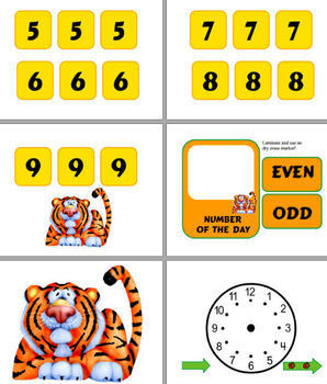 Bulletin Board - Calendar Materials (Theme - Tiger)