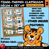 Tiger-Themed Classroom Decor and Set Up 2 with Editable La