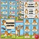 Tiger-Themed Classroom Decor and Set Up with Editable Labels BUNDLE