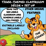 Tiger-Themed Classroom Decor and Set Up with Editable Labe