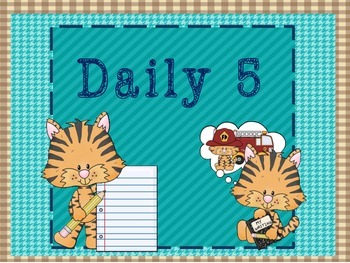 Tiger Themed Daily 5 Posters and Choice Cards