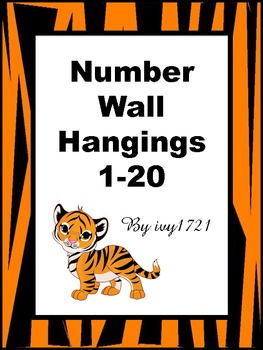Tiger Themed Number Cards 1-20