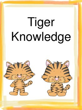 Tiger Themed Student Scale based on Marzano