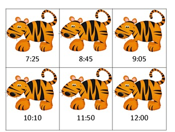Tiger Time - Telling time to the 5 minute