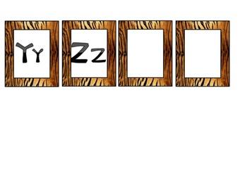 Tiger-Jungle-Safari Word Wall Letters