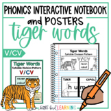 Tiger Words (V-CV) Interactive Notebook Activities and Posters