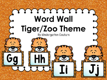 Tiger/Zoo Word Wall