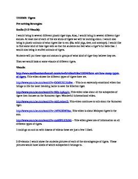 Tiger unit writing strategies