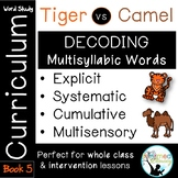 Tiger vs. Camel Rule Book 5-Advanced Multisyllabic Decoding Strategies