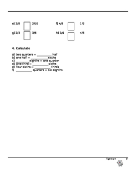Tigerlearn Maths Fractions Worksheet