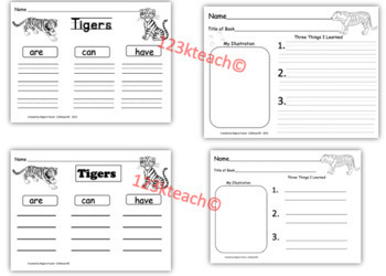 All about tigers writing prompts graphic organizers diagram by all about tigers writing prompts graphic organizers diagram ccuart Images
