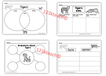 All about tigers writing prompts graphic organizers diagram by all about tigers writing prompts graphic organizers diagram ccuart Image collections