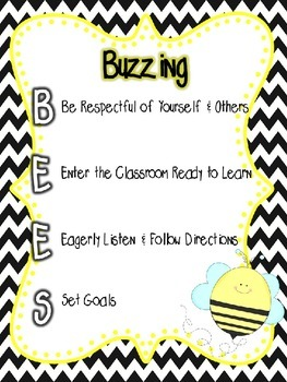 Buzzing BEES Guidelines and Rules Poster