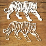 Tigers SVG files for Silhouette Cameo and Cricut.