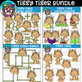 Tiggy Tiger Clipart Bundle {Scrappin Doodles Clipart}