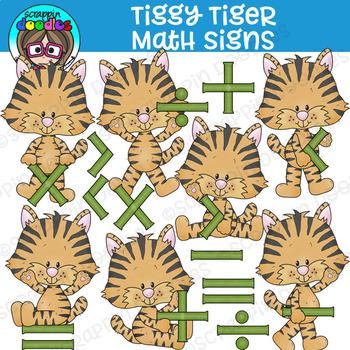 Tiggy Tiger Math Signs Clipart {Scrappin Doodles Clipart}
