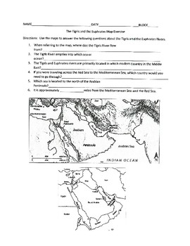 Tigris and Euphrates Mapping Exercise