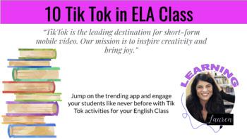 Tik Tok in the ELA Classroom Mini-Assignments