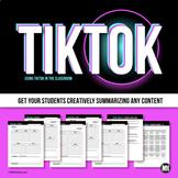 TikTok Video Activity: Distance Learning Project Tik Tok  