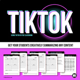 TikTok or Video Project | Summarize Any Content for Any Subject | Video Activity