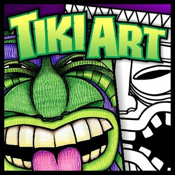 Tiki Art Templates Lesson Plans And Coloring Sheets Tpt