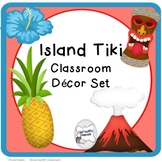 Tiki island classroom decor set