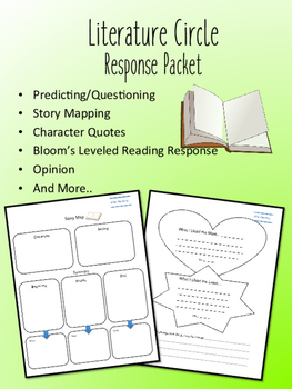 Tikki Tikki Tembo Literature Circle Response Packet- Novel Study- Book Club!
