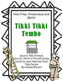 Tikki Tikki Tembo - Text Talk- Vocabulary, Comprehension, Test Prep