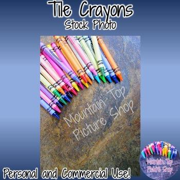 Tile Crayons (Stock Photo)