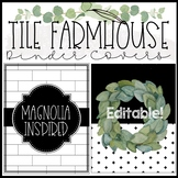 Tile Farmhouse Binder Covers and Spines