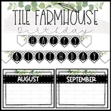 Tile Farmhouse Birthday Board and Banner